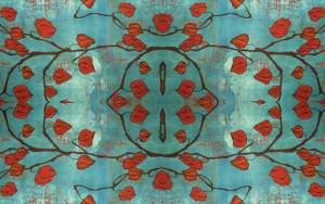 chinese lanterns aquamarine