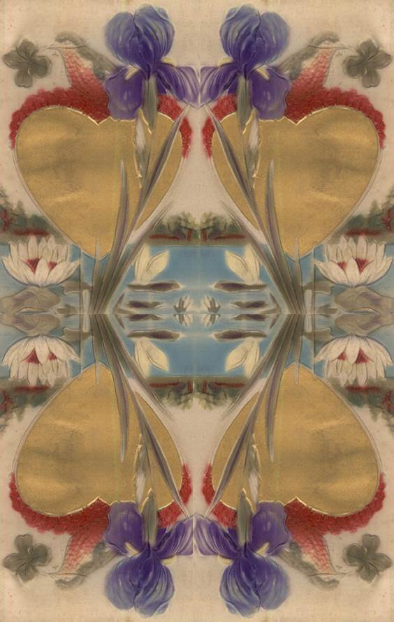 lotus iris heart